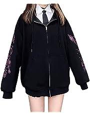 地雷系 ジャケット レディース 長袖 フード付き 可愛い カジュアル 通勤 通学 量産型 服 かっこいい 秋服 韓国風 ファッション ゆったり 十字架