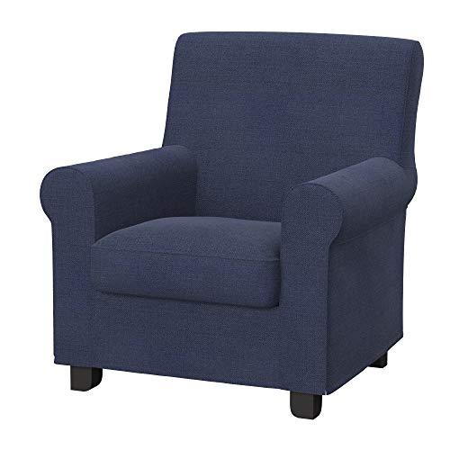 Soferia Funda de Repuesto para IKEA GRONLID sillón, Tela Naturel Navy Blue, Azul