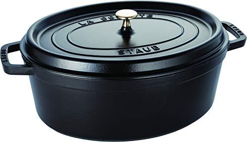 STAUB Cacerola/Cocotte de Hierro Fundido Ovalada, Diámetro de 37 cm, 8 L, Negro