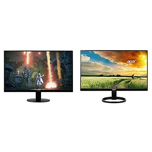 Acer SB230 Bbix 23' Full HD (1920 x 1080) IPS Ultra-Thin Zero Frame Monitor Black & R240HY bidx 23.8-Inch IPS HDMI DVI VGA (1920 x 1080) Widescreen Monitor, Black