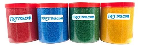 FRUTITOSCOM - Azúcar para palomitas - Pack 4 sabores - (4 x 500 gr)