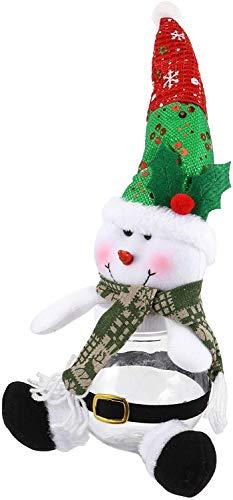 Natale caramelle vasetti cartone animato pupazzo di neve tratta barattoli trasparenti in plastica natalizia bottiglia di caramelle contenitori for Natale festa festa goodie bag riempitivi scatole nata
