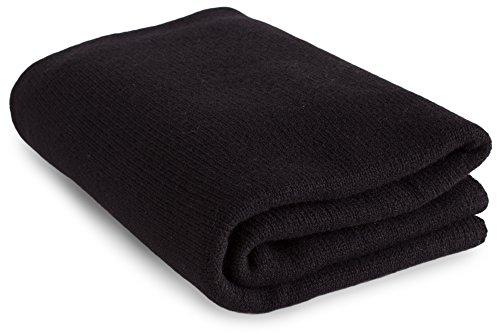 Luxuriöser 100% Kaschmir Reisen Wrap Decke–'schwarz'–Handgefertigt in Schottland von Love Kaschmir–RRP $660