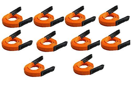 三方良しスリングベルト ベルトスリング 幅35mm ナイロンスリングベルト 35mm 使用荷重1200kg 繊維ベルト 工具 道具 吊上げ、移動、運搬、物流に最適!ベルトスリング 玉掛け クレーン (3.5m10pcsセット)