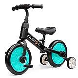 Fascol 3 en 1 Bicicleta de Equilibrio para 2-6 Años Niños, Triciclo para Bebes con Pedales...
