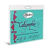 Aladine - Cahier de Calligraphie Anglaise sur Carte - Cahier Guide d'Apprentissage Pas à Pas.