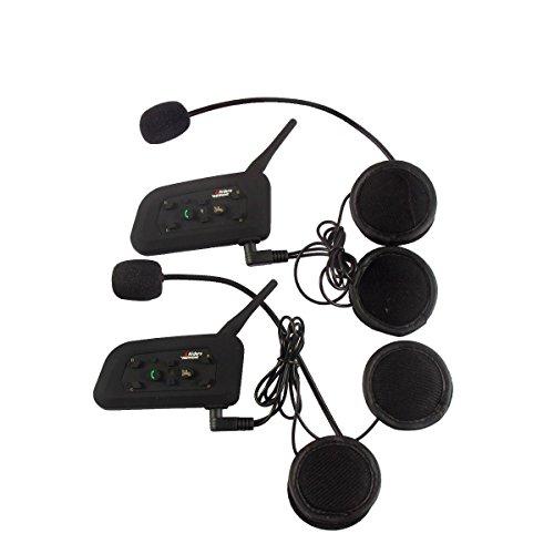 OKEU V6 Intercom 1200 Meters Full Duplex Wireless Bluetooth intercom Motorcycle Helmet Bluetooth Intercom Waterproof Windproof Headset for Cycling/Skiing/Mountaineering/Concert/Gymnasium