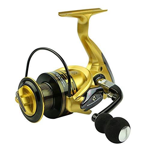 Carretes giratorios 13 + 1BB Spinning Pesca Reeles 1000-7000 Serie Metal Head Wheel de giro con mango intercambiable para la línea de fundición anti-agua de mar Carrete de pesca suave ultraligero
