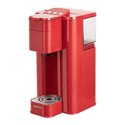 Amazon Basics Single Serve Capsule Coffee Maker, Red