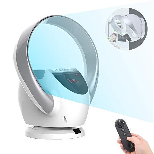 AYXC Ventilator Rotorlos Raumlüfter,mit Fernbedienung 8 Geschwindigkeitsstufen Ultra-Leise Sleep Fan,Faltbarer Tragbarer Vertikaler Kinderspezifischer Lüfter, 4 Farben