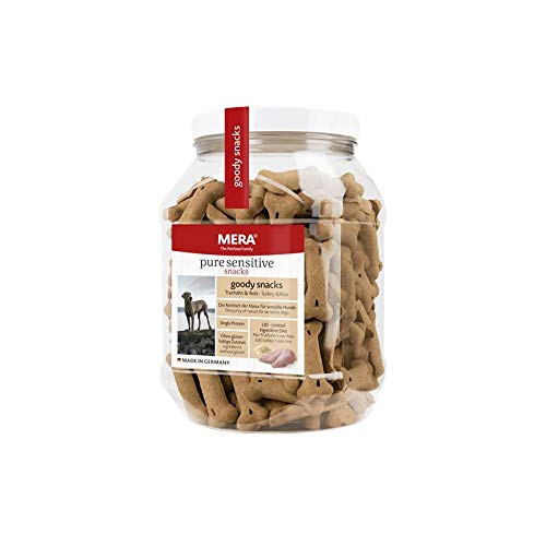 MERA pure sensitive goody snack Truthahn & Reis Hundeleckerlies – Hundekekse als Snack für nahrungssensible Hunde