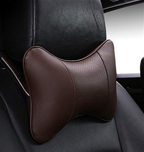 HIN GU Nekkussen, traagschuim, modern, minimalistisch, modieus, kunstleer, comfortabel, universeel, enkel stuk, geschikt voor de meeste auto's, viltjes, vezels, nekkussen