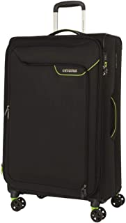 American Tourister Applite 4Security Softside, 82 Centimeter, Black/Green
