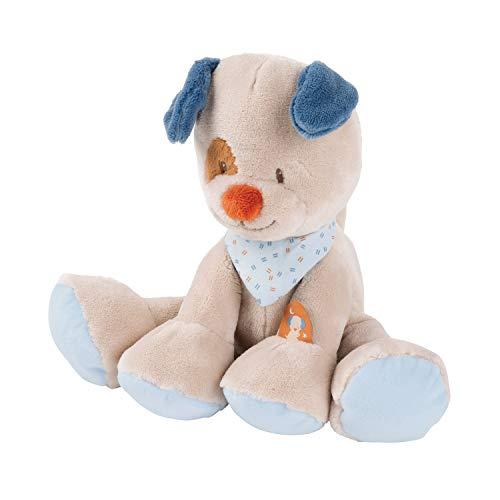 Nattou Kuscheltier Hund Jim, Wegbegleiter ab der Geburt, ca. 30 cm cm, Jim und Bob, Beige/Blau/Braun