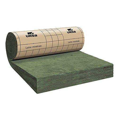 - Isolation combles perdus - Rouleau laine de verre URSA MRK 40 TERRA revêtu kraft - Ep. 100mm - 10,20m² - R 2.50