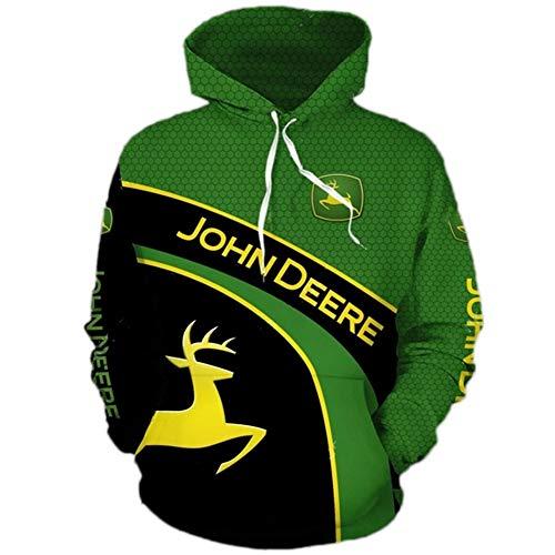 xiaosu Männer Hoodies Jacke Zum John-Deere 3D Drucken Kapuzenpullover Pullover/Zip Sweatshirt-Fan Jersey Tops / F1 / S