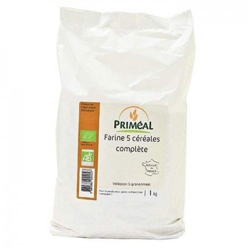 Priméal Farine Complète 5 Céréales 1 kg BIO