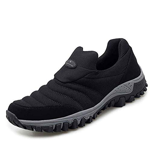 gracosy Chaussure de Course Femme Homme, Chaussures de Sport en Maille à Enfiler Sneakers Décontracté Basket Running Randonnée Air Respirant Détentes Confortable Fitness Léger Noir 43
