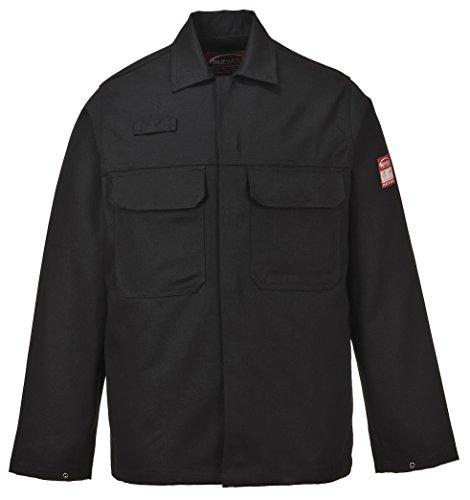 PORTWEST BIZ2 - Bizweld Arbeitsjacke, 1 Stück, XL, schwarz, BIZ2BKRXL