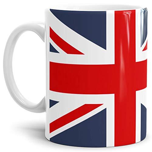 Tassendruck Flaggen-Tasse/Souvenir/Urlaub/Länder-Fahne/Kaffetasse/Mug/Cup - (Großbritanien, Normal)