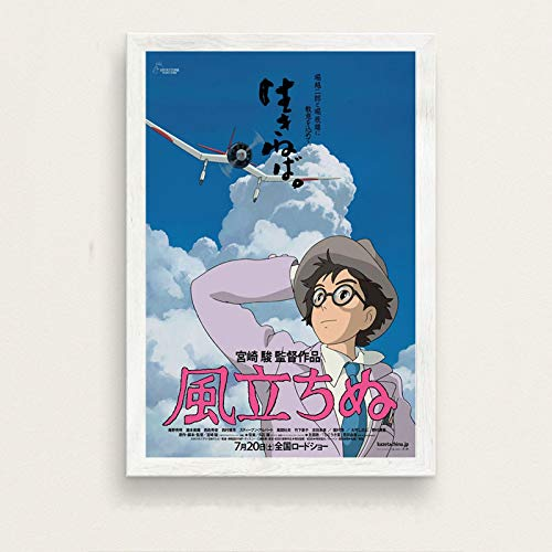 zhuifengshaonian Il Vento Si alza Miyazaki Hayao Classic Cartoon Movie Japan Anime Art Painting Canvas Poster Wall Home Decor(Zr-142) Nessuna Cornice Poster 50x70cm