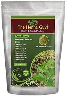 Henna Hair & Beard Dye - 100% Natural & Chemical Free - The Henna Guys (1 Pack, Pure Henna)