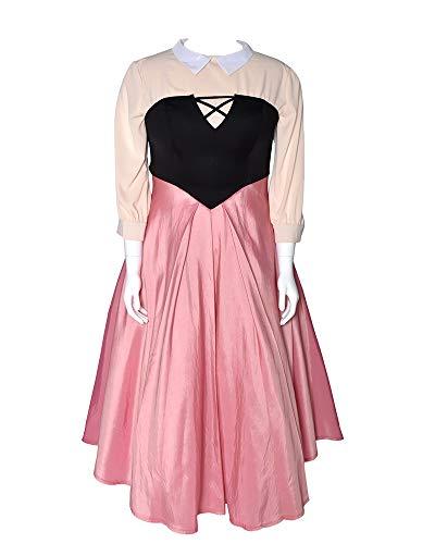 Cosplay.fm Damen Briar Rose Kostüm Outfit Aurora Peasant Kleid mit Schal Petticoat -  Pink -  Large