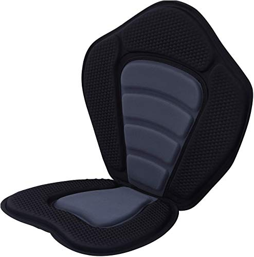 Paddle Board Seat, Kayak Seat, Kayak Seats and Back Support, Deluxe Paddleboard Seat High Backrest Chair Seat with Mesh Pocket, 4 Adjustable Front, Paddleboard/SUP/Kayak/Canoe/Boat Seat