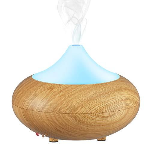GX Diffuser Aromatherapie Diffuser Aroma Luftbefeuchter Ionisierer Luftreiniger mit Wandelnden Nightlights für Kinderzimmer Helles Holz