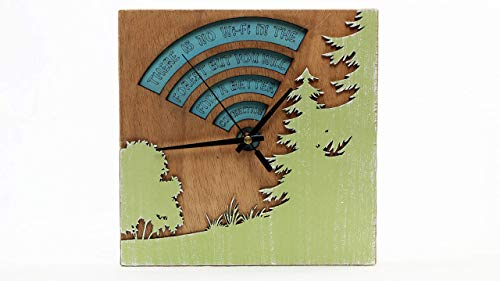 There is no wifi in the forest but you will find a better connection.Reloj para pared.Decoracion de madera