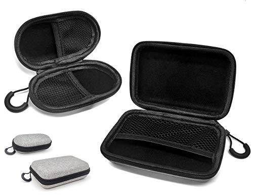 2 Pcs Universal Mini Funda para Auriculares con Cordón Fácil De Cargar Bolsa De Auriculares para In Ear Cable Electronico Unidad USB