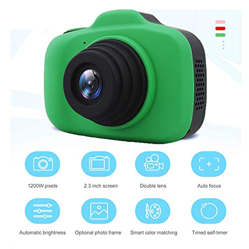 Winnes Digitale Kinderkamera, Kreative Kinder Digitalkamera Cartoon-Kamera hochauflösendes Objektiv Nachtfotografie (Grün)