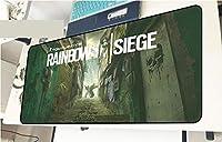 レインボーシックス 彩虹六号围攻 Rainbow Six 泳衣 鼠标垫 大型 超大型 桌垫 游戏鼠标垫 动漫 键盘垫 防水 防滑 耐久性 时尚 鼠标垫 办公室/家庭通用-E_700X300X3MM