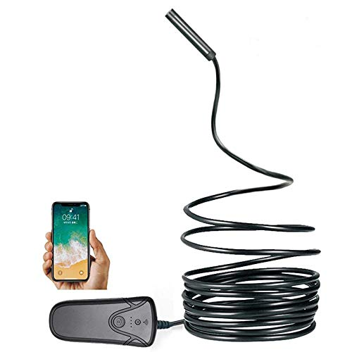 Linbing666 WiFi-Endoskop HD 2 Millionen Pixel 5,5 mm Halbstarre Endoskop-Inspektionskamera - mit 6 LED-Helligkeitsleuchten für die Inspektion von Abwasserleitungen in Unterwasserfahrzeugen