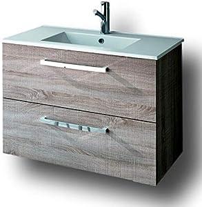 Cygnus Bath Nevada Mueble para Baño, Madera Natural, 80 Cm X 45 Cm