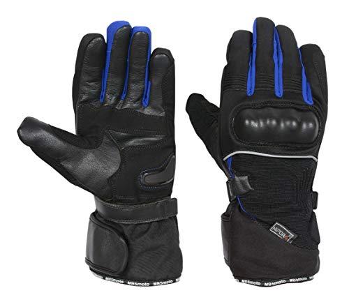 MBSmoto MBG39 - Guantes impermeables para moto de invierno (2XL, azul)
