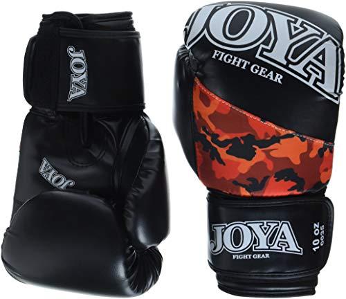 JOYA Kickboxen - Guanti mimetici, 12 oz, Colore Rosso/Nero/Rosso