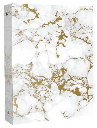 bloom daily planners Binder (+) 3 Ring Binder (+) 1 Inch Ring (+) 10' x 11.5' - Gold Marble