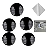 5 Pairs Push-in Silicone Nose Pads for Porsche Design Sunglasses & Eyeglass Frames,with Lens Cleaning Cloth (Clear)