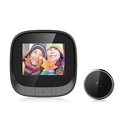 YLSZZTT Video Timbre Mirilla Cámara De Seguridad Cámara De Pantalla LCD De 2,4 Pulgadas Visor De Puerta Digital Visual para Sistema De Alarma De Casa Inteligente