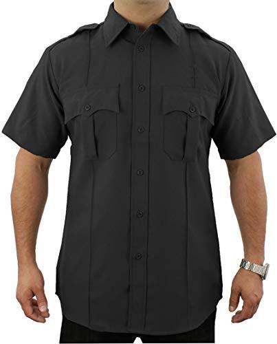 First Class Short-Sleeve Uniform Shirt 1XL Black