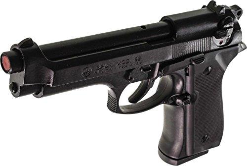 Pistola a salve originale Bruni Full Metal mod. Beretta 92 PAK scarrellante + Valigetta + 50 munizioni