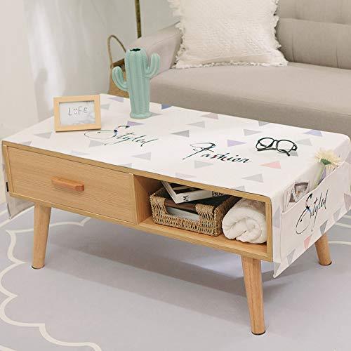 YCZZ Mantel nórdico de Alce, Mantel de Sala de Estar, Mantel Rectangular de algodón y Lino, Toalla para Cubrir el Mueble de TV 70 * 180 CM J03-5 (Impermeable)
