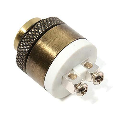 ZOYOSI Interruptor momentáneo de latón de 16 mm con botón pulsador de timbre