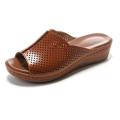 ZJMM Zapatos Y Zapatillas De Tacón De Cuña De Verano para Mujer
