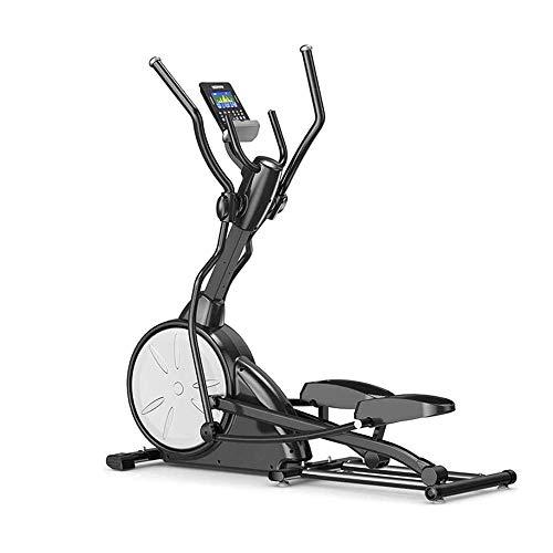 WJFXJQ Trainer Croce, Esercizio Bike Ellittico Macchina Magnetica Resistenza Magnetica Regolabile, Display LCD Rughevole Display calorico Palestra Attrezzature per la Palestra