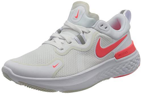 Nike Damen React Miler Straßen-Laufschuh, White/Pink Glow-Photon Dust, 38 EU