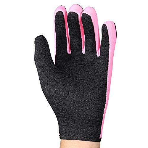 VGEBY1 Guantes de Buceo, 1 par 3 Colores Guantes de Neopreno de Cinco Dedos para Buceo, Snorkel, Kayak, Surf y Todas Las Actividades acuáticas(S-Rosa Negro)