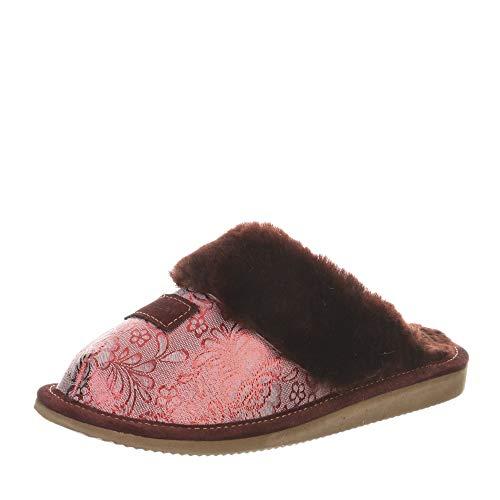 Hollert Damen Lammfell Hausschuhe Sydney Modell 11 Pantoffeln Merino Schaffell Puschen warm Größe EUR 40