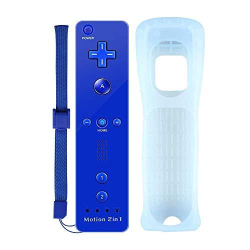 COOLEAD Motion Plus Mando a Distancia para Wii y Wii u Remoto Motion Plus Controller para Wii y Wii U Controlador de Juego con Funda de Silicona y Muñequera (Producto de Terceros)